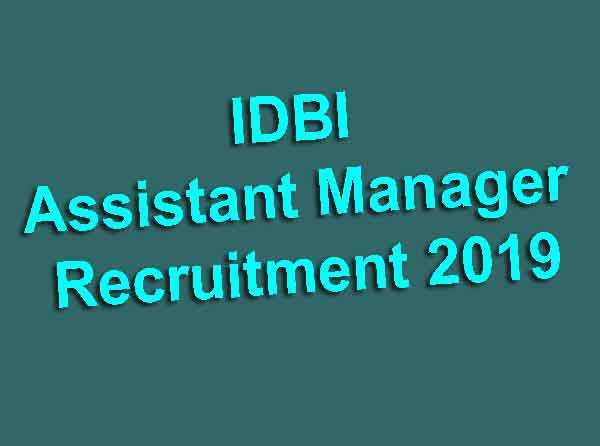 IDBI Assistant Manager Online Form
