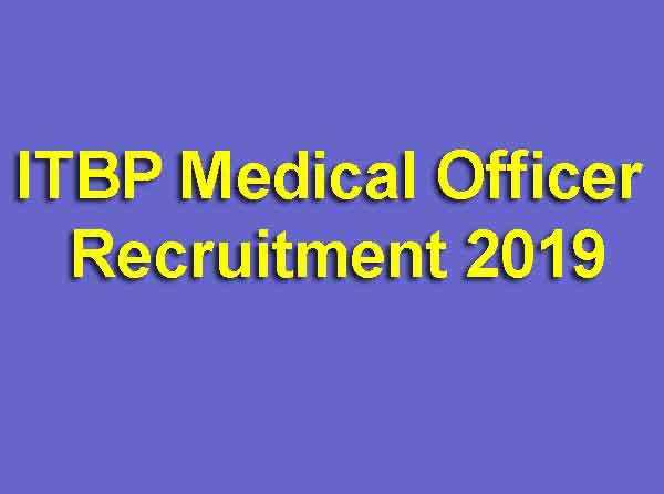 ITBP Medical Officer Recruitment 2019