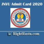 JNVU Admit Card 2020 | Download Jai Narain Vyas University Jodhpur Permission Letter @ jnvuiums.in