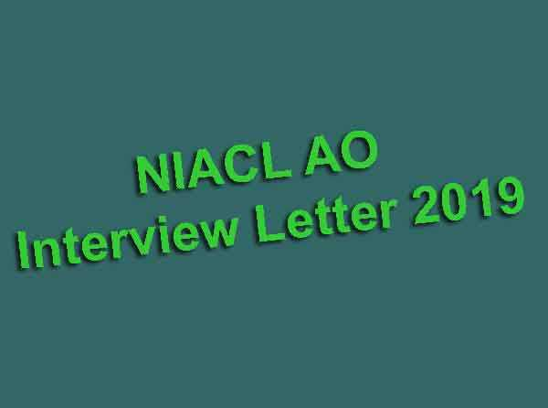 NIACL AO Interview Letter 2019