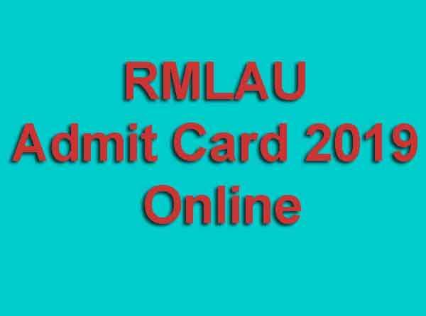RMLAU Admit Card 2019 Online