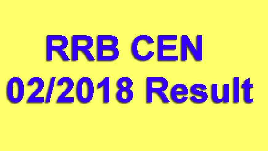 RRB CEN 02/2018 Result