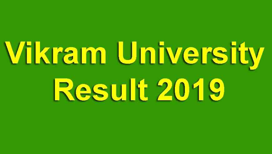 Vikram University Result 2019