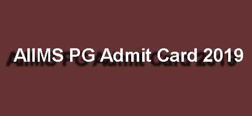 AIIMS MD MS Admit Card