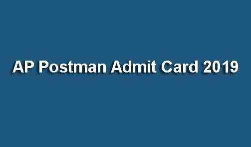 AP Postman Admit Card 2019