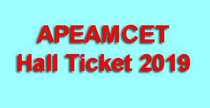 APEAMCET Hall Ticket 2019