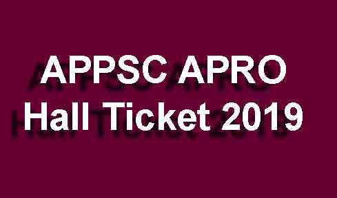 APPSC APRO Hall Ticket 2019