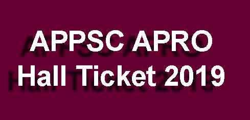 APRO Admit Card 2019