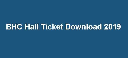 BHC Hall Ticket 2019