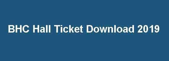 BHC Hall Ticket