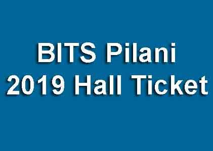 BITSAT Hall Ticket