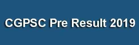 CGPSC Result 2019