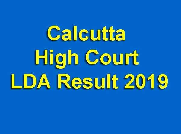 Calcutta High Court LDA Result 2019
