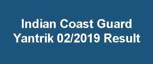 Coast Guard 02/2019 Result