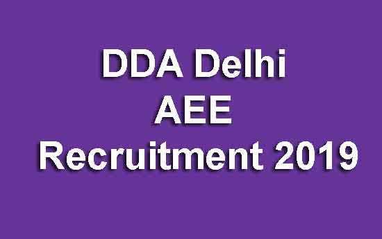 DDA Delhi AEE Recruitment 2019