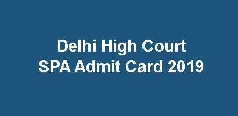 DHC SPA Admit Card