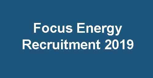 Focus Energy Limited Recruitment