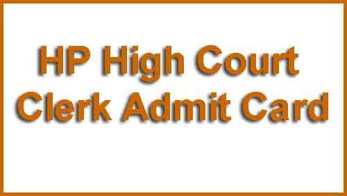 HP High Court Admit Card