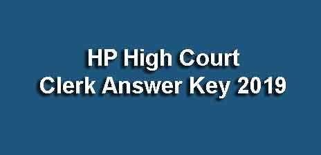 HP High Court Answer Key