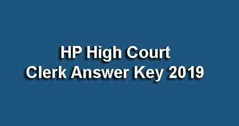 HP High Court Office Assistant Answer Key
