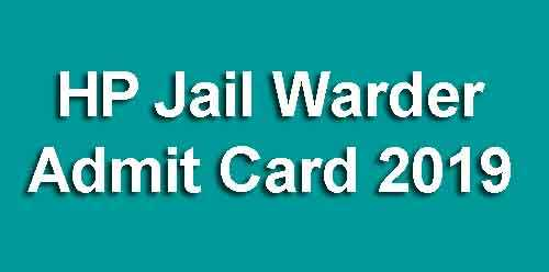 HP Jail Warder Admit Card 2019