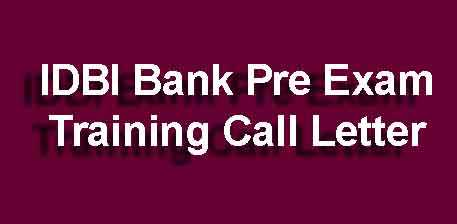 IDBI Executive PET Call Letter