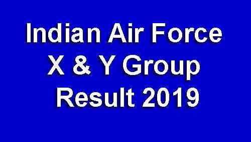 Indian Air Force X & Y Group Result 2019