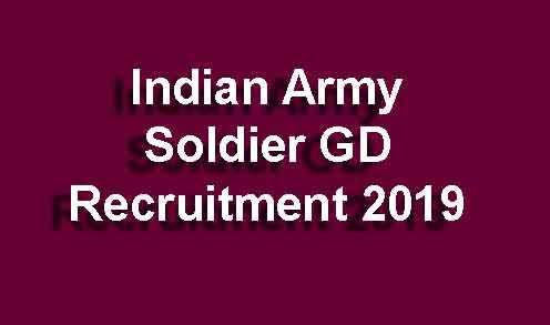 Indian Army Soldier GD Recruitment