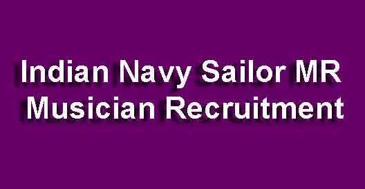 Indian Navy Musician Recruitment