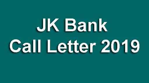 JK Bank Call Letter 2019 (PO & Banking Associates)