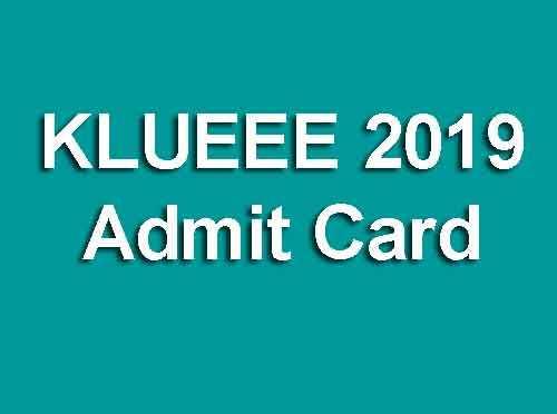 KLUEEE 2019 Admit Card