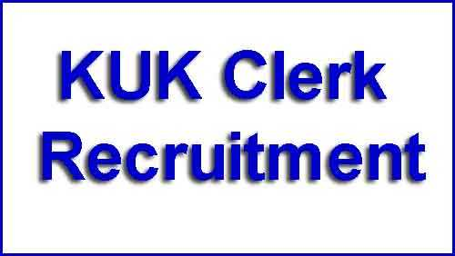 KUK Clerk Recruitment