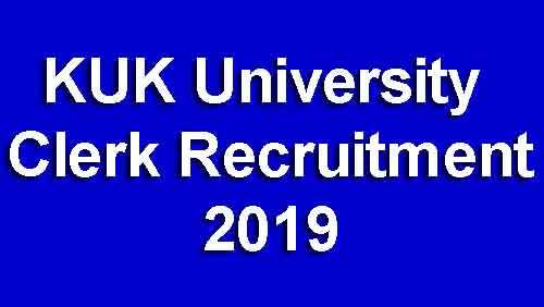 KUK University Clerk Recruitment 2019