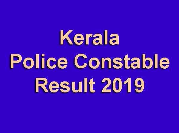 Kerala Police Constable Result 2019