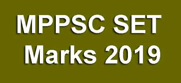 MPPSC SET Marks 2019