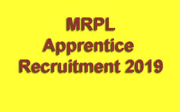 MRPL Apprentice Recruitment 2019