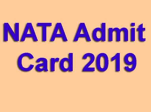 NATA Admit Card 2019
