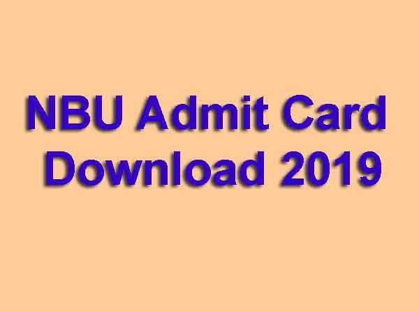 NBU Admit Card Download 2019
