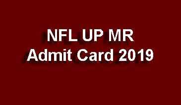 NFL UP MR Admit Card