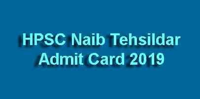 Naib Tehsildar Admit Card
