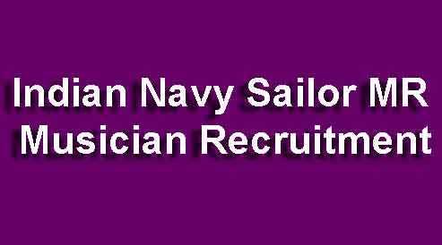Navy Musician MR Recruitment