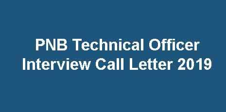 PNB Interview Call Letter 2019