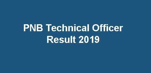 PNB Manager Result 2019