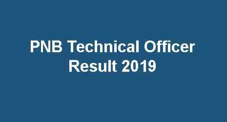 PNB Technical Manager Result