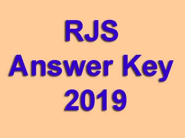 RJS Answer Key 2019
