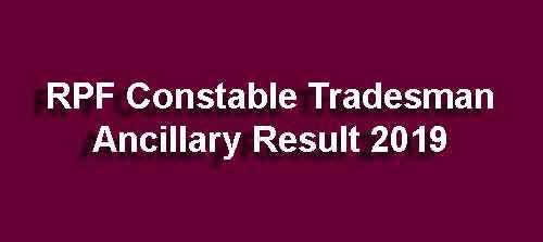 RPF Ancillary Constable Result