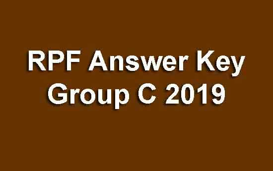 RPF Answer Key Group C 2019