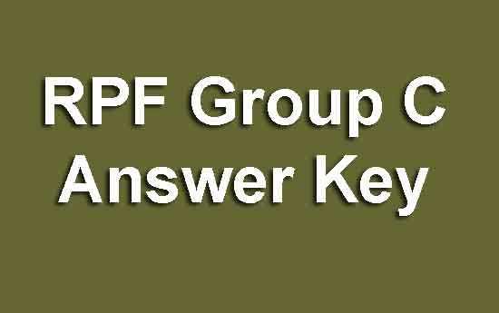 RPF Group C Answer Key