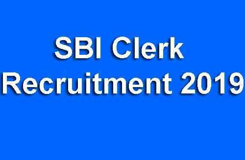 SBI Clerk Online Form 2019