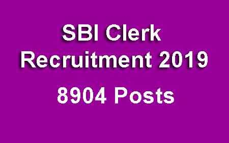SBI Clerk Recruitment 2019 [Last Date 03 May 2019]